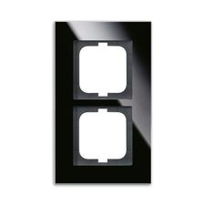 Rámeček Solo carat, vodorovná i svislá montáž černé sklo