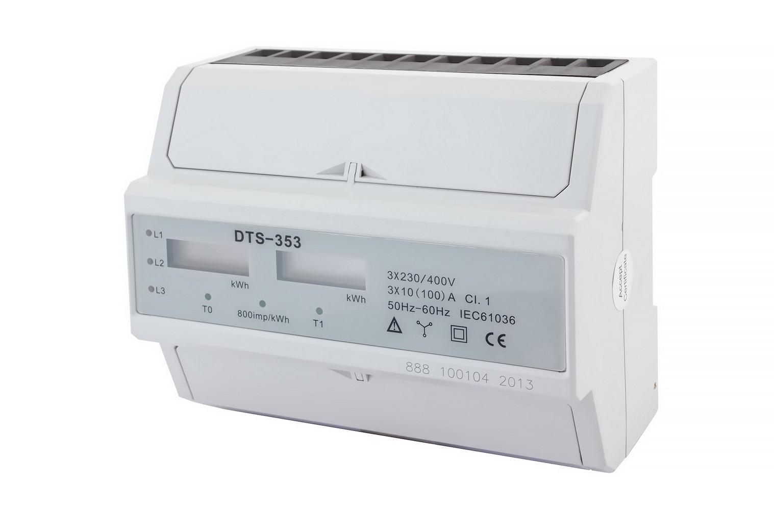 Elektroměr DTS 353-L 100A 3F 2tarif, cena za ks