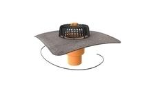 Vyhřívaná svislá střešní vpusť TOPWET s bitumenovým límcem průměr 75 mm