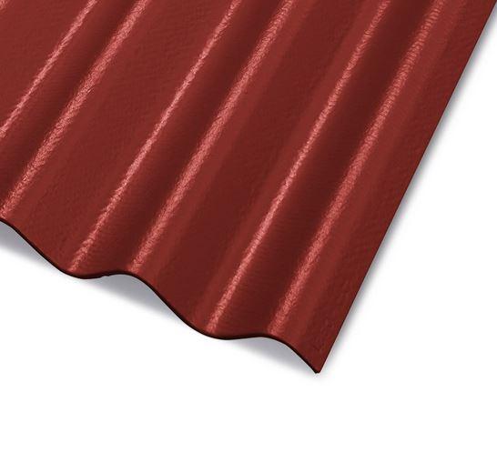 CEMBRIT Vláknocementová vlnitá střešní krytina A5 2500x918 mm Červená