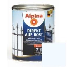Lak na kov Alpina Direkt A Rost 2,5 l lesk bílá RAL9016