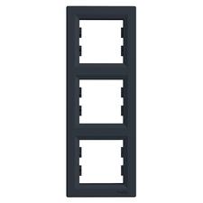 Rámeček Schneider Asfora trojnásobný vertikální antracit