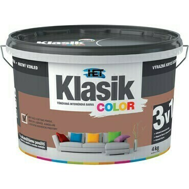 Malba interiérová HET Klasik Color hnědý čokoládový, 4 kg