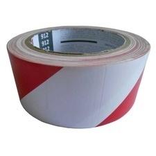 Páska výstražná samolepicí 48 mm/33 m červeno-bílá