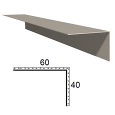 Rohová lišta z poplastovaného plechu Viplanyl 40x60 mm, r.š. 100 mm