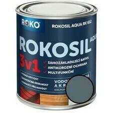 Barva samozákladující Rokosil Aqua 3v1 RK 612 stř. šedá, 0,6 l