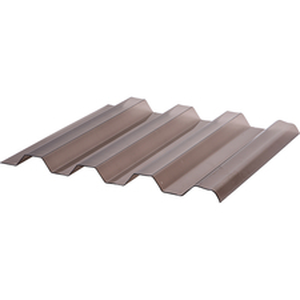 Deska polykarbonátová trapézová TOPLIGHT T 76/18 microprisma 2UV bronz 1,06×4 m