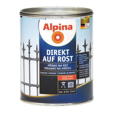 Lak na kov Alpina Direkt A Rost 2,5 l lesk černá RAL9005