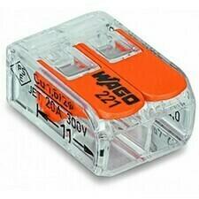Svorka krabicová 2x4 mm2, WAGO 221-412 (16ks/bal)