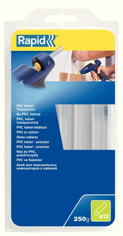 Lepidlo tavné na PVC Rapid transparentní