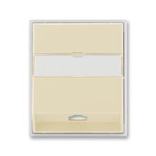Kryt telefonní zásuvky s 1 otvorem Element slonová kost / ledová bílá