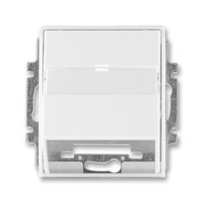 Kryt zásuvky komunikační s popisovým polem Element bílá