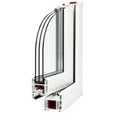 Okno plastové WINDEK PVC TREND STAR 500/1140 mm dub zlatý/bílá