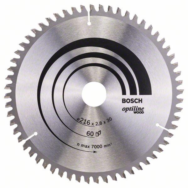Kotouč pilový Bosch Optiline Wood 216×30×1,8 mm 60 z.