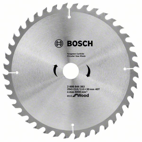 Kotouč pilový Bosch Eco for Wood 254×30×2 mm 40 z.