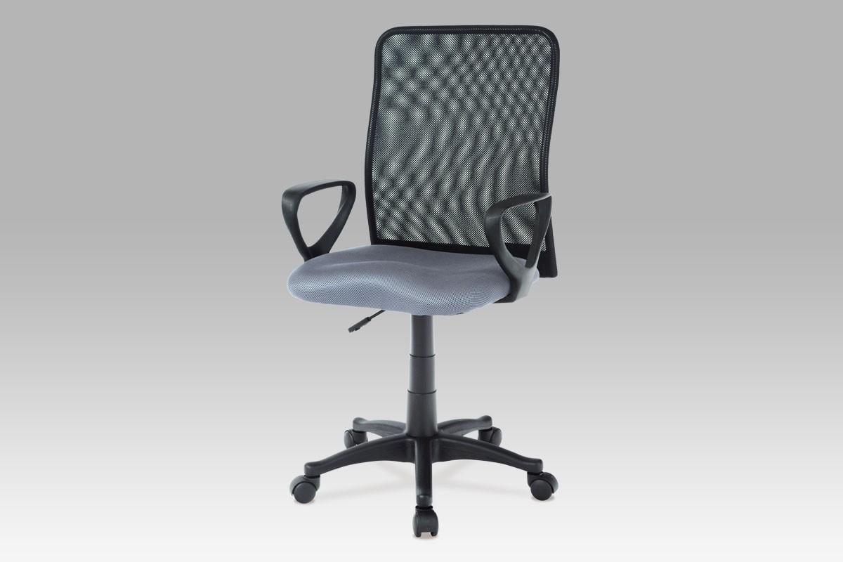 Kancelářská židle, látka MESH šedá/černá, plynový píst, cena za ks