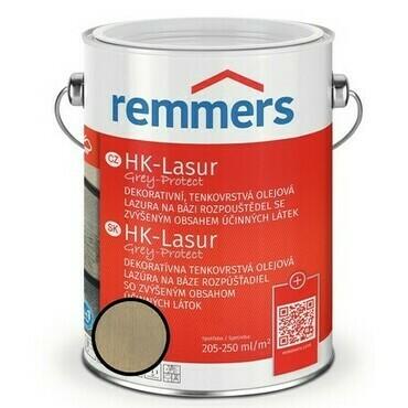 Lazura ochranná Remmers HK Lasur Grey protect mlhavá, 2,5 l