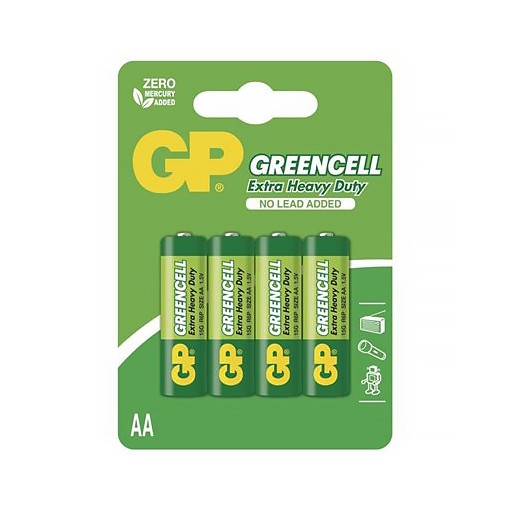Baterie R6 AA, GP Greencell