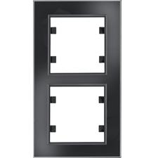 Rámeček svislý Hager lumina PASSION, černá/sklo