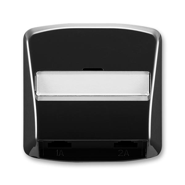 Kryt telefonní zásuvky s 2 otvory Tango černá