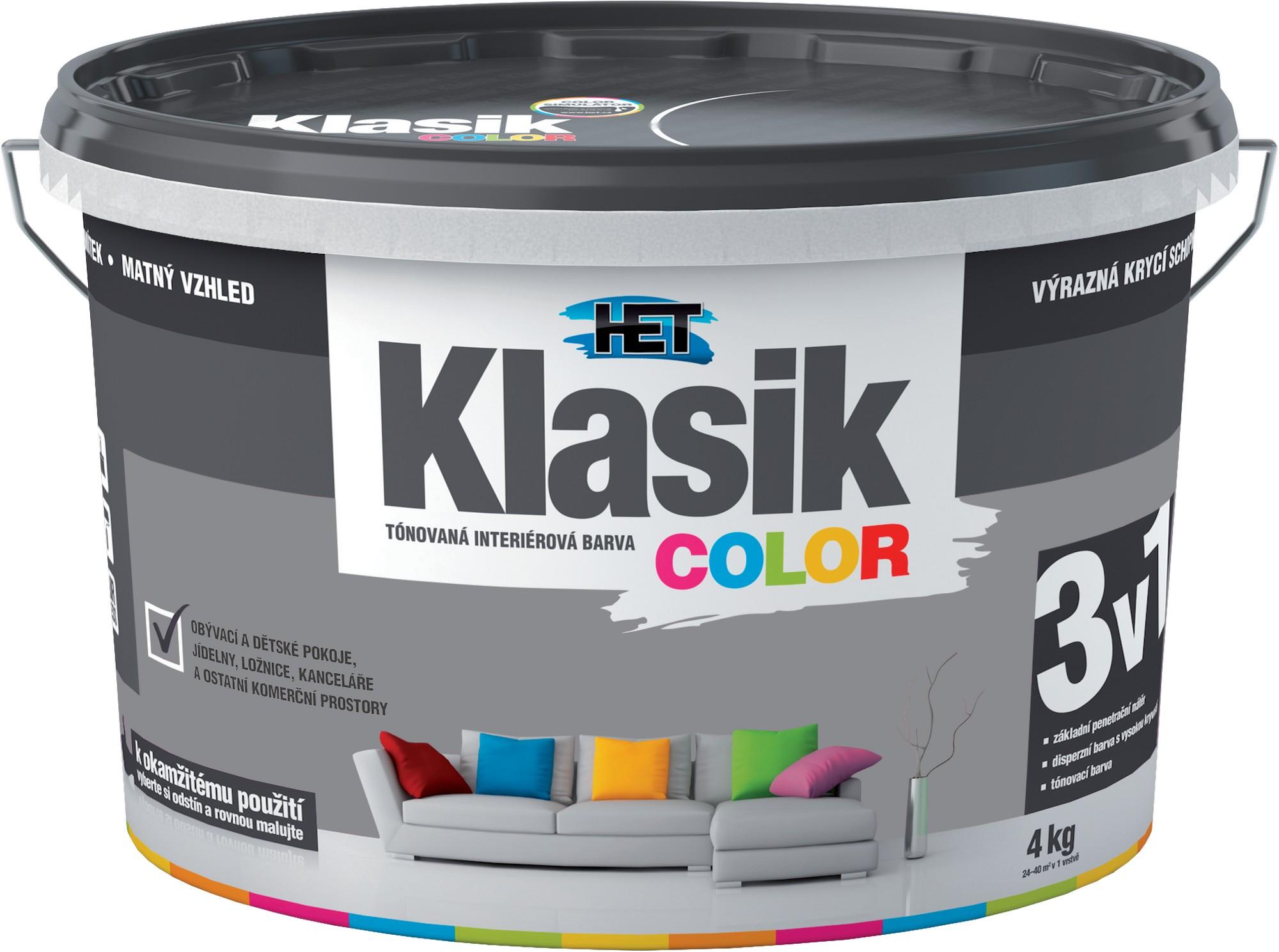 Malba interiérová HET Klasik Color šedý betonový, 4 kg