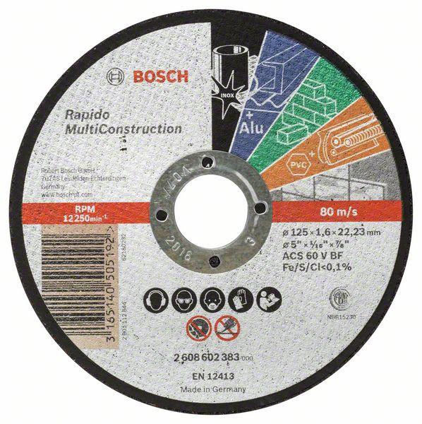 Kotouč řezný korundový Bosch Rapido Multi Construction 125×22,23×1,6 mm