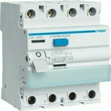 Chránič proudový Hager CDA425D 6 kA 4pól 25 A