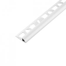 Lišta ukončovací obloučková Acara PVC bílá 8 mm