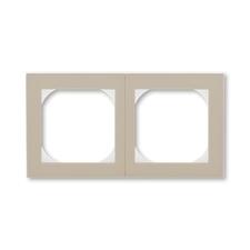 Rámeček dvojnásobný s otvorem 55×55 Levit macchiato / bílá