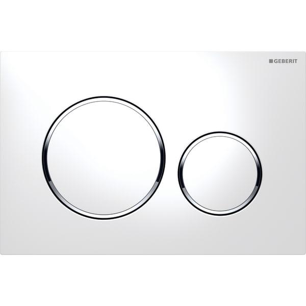 Ovládací tlačítko pro předstěnové moduly Geberit Sigma 20 bílá/chrom lesk/bílá