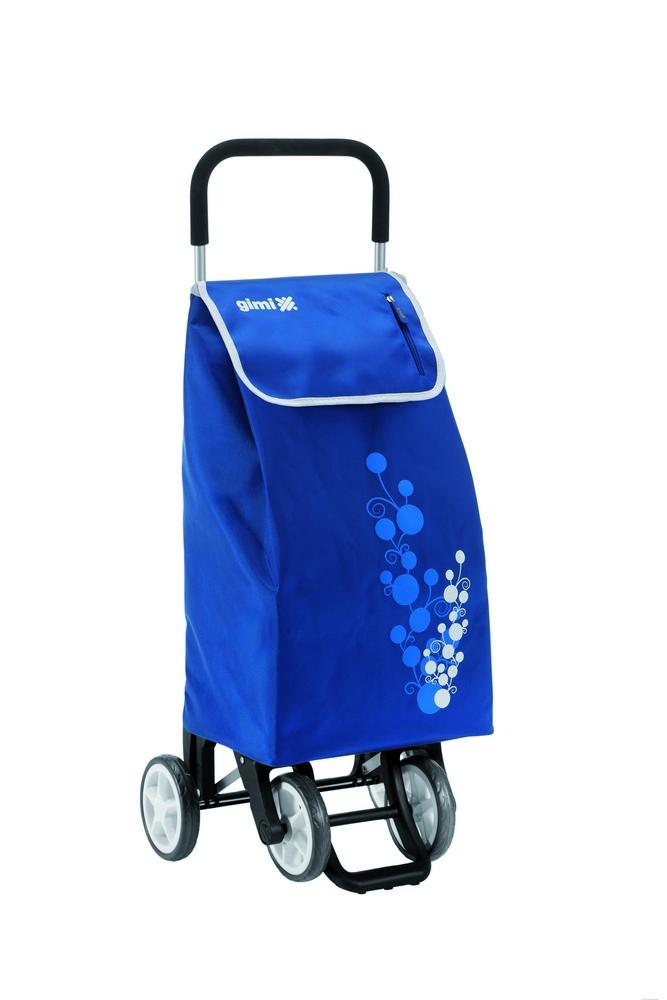 Nákupní vozík GIMI Twin modrý 56 l