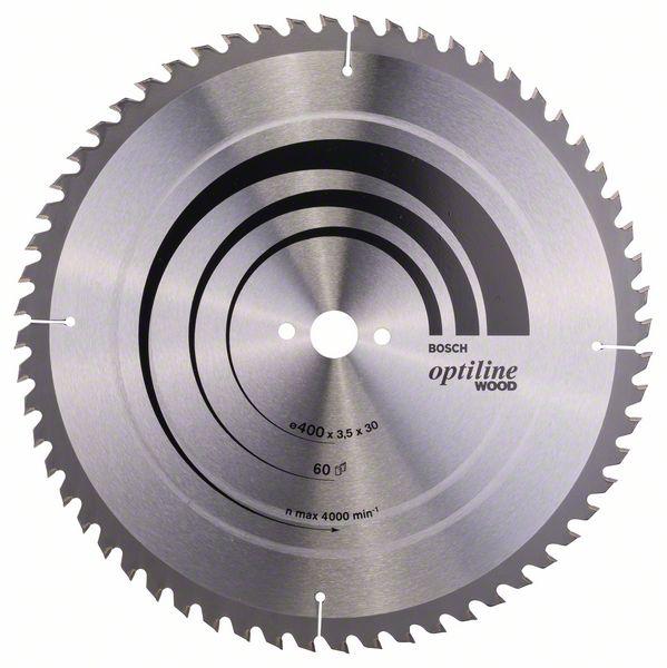 Kotouč pilový Bosch Optiline Wood 400×30×2,5 mm 60 z.