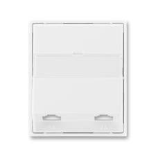 Kryt telefonní zásuvky s 2 otvory Time/Element bílá