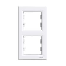 Rámeček vertikální dvojnásobný, Asfora bílá