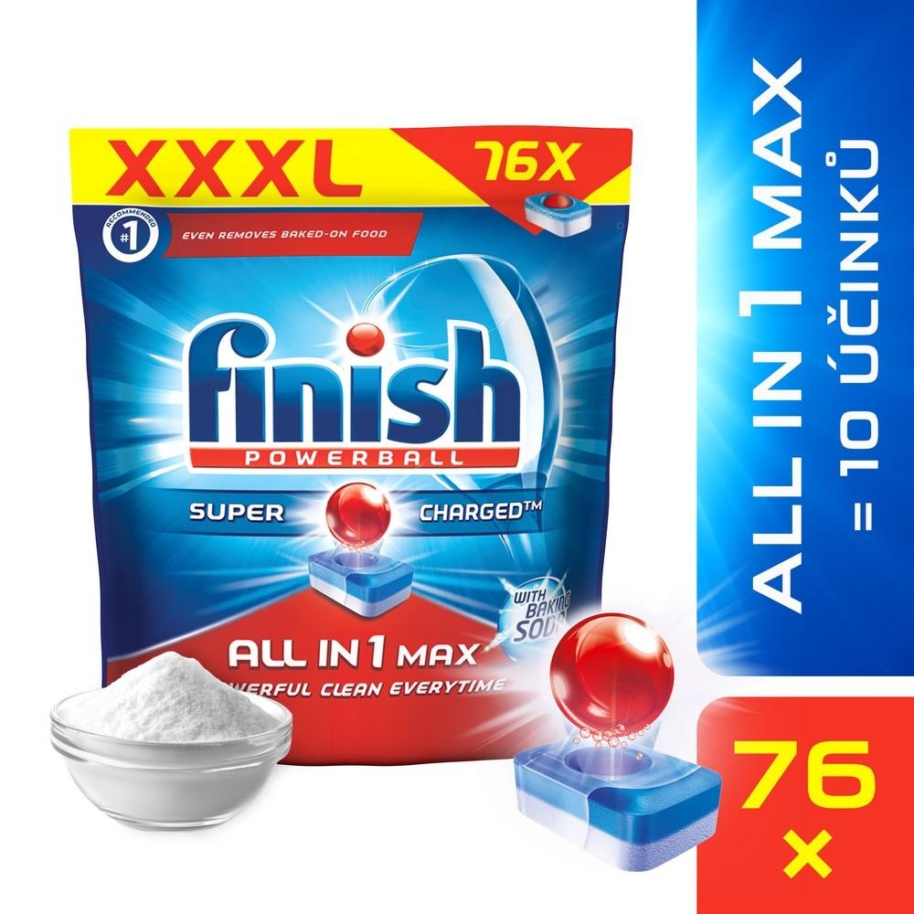 Tablety do myčky FINISH All-in-1 Max Soda 76 ks, cena za ks