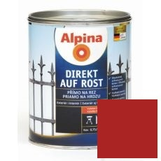 Lak na kov Alpina Direkt A Rost 2,5 l lesk červená RAL3000