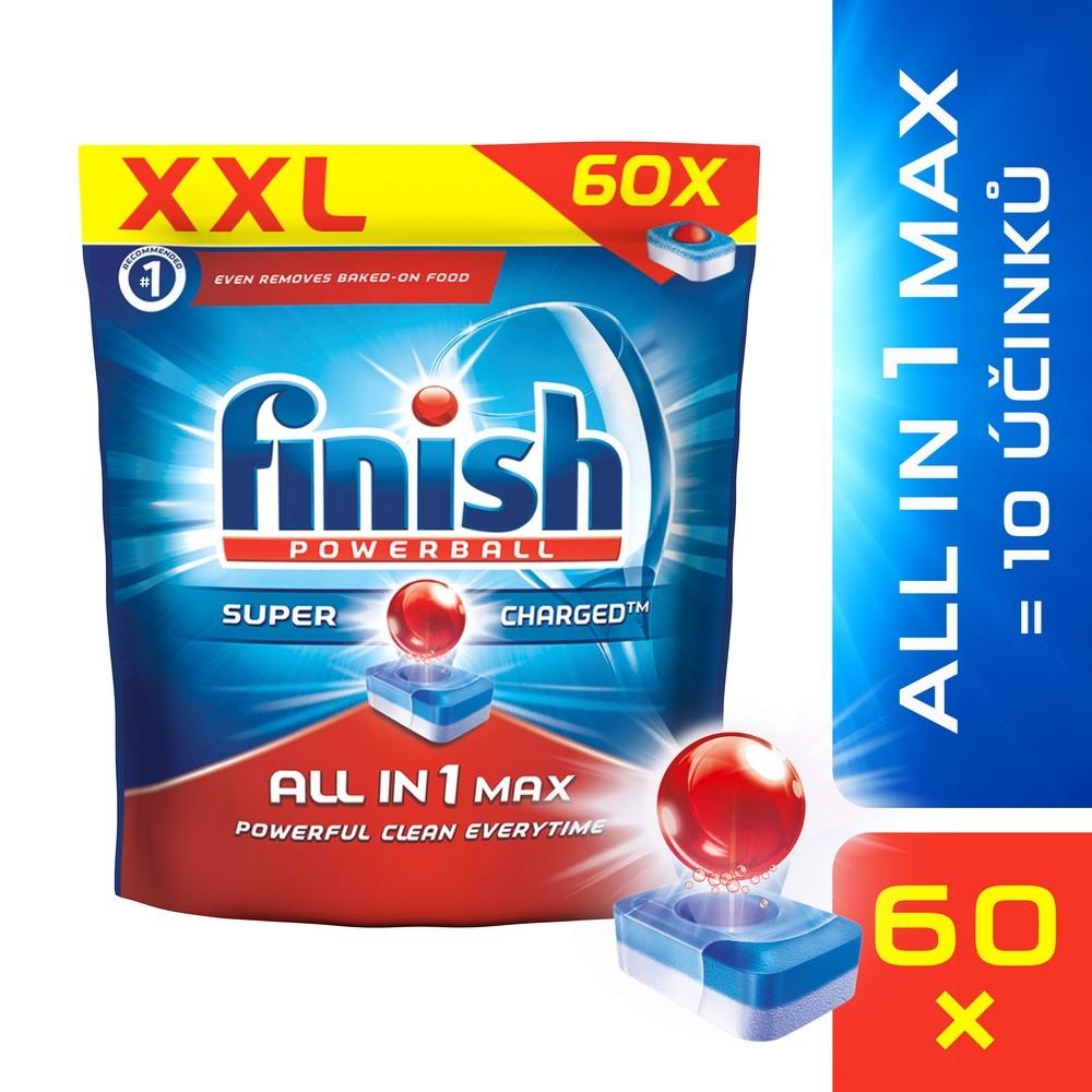 Tablety do myčky FINISH All-in-1 Max 60 ks, cena za ks