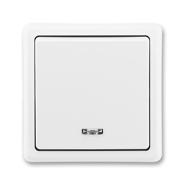 Přepínač střídavý s orientační doutnavkou Classic jasně bílá