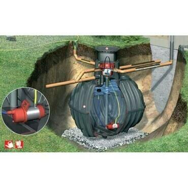 Sestava nádrže na dešťovou vodu Graf Carat Garten Komfort, 6 500 l