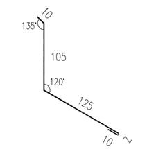 Lemování zdi rovnoběžné s okapem RS250S-120 SP25 RAL8017 0,50mm 2bm