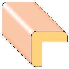 Lišta rohová R6 smrk nastavený 17×17×2000 mm, 25 ks/bal.
