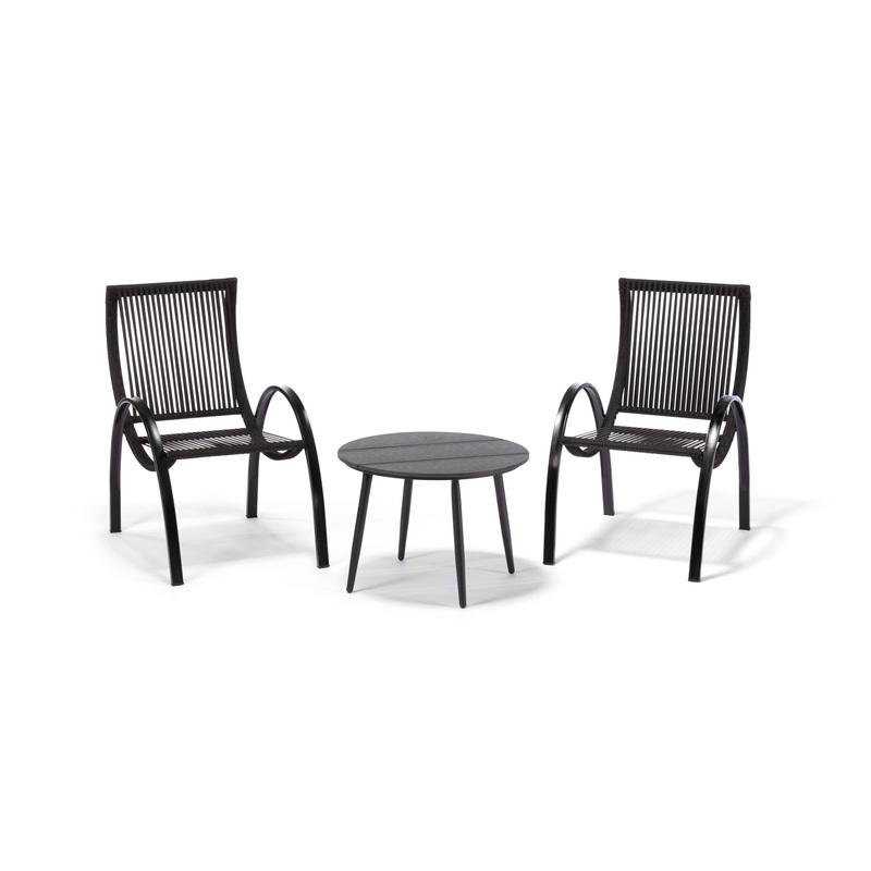 Stolek LOUNGE + 2x židle PADOVA VELKOOBCHOD, cena za set