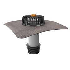 Svislá střešní sanační vpust TOPWET s integrovanou bitumenovou manžetou, průměr 110 mm
