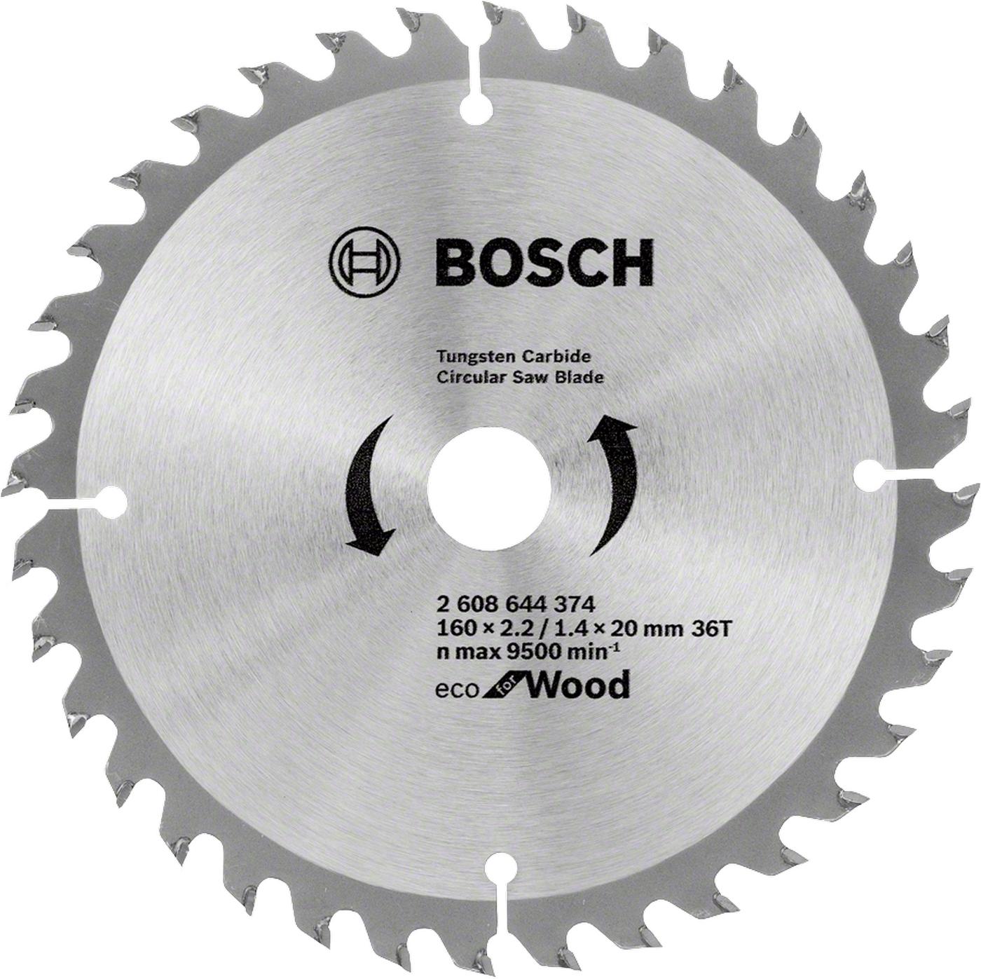 Kotouč pilový Bosch Eco for Wood 160×20/16×1,4 mm 36 z.