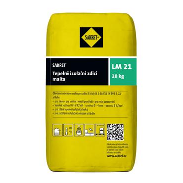 Tepelně izolační malta Sakret LM 21, 20 kg