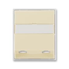 Kryt telefonní zásuvky s 2 otvory Element slonová kost / ledová bílá