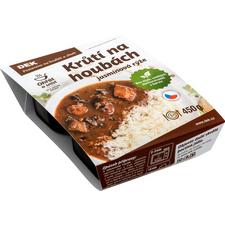 Krůtí na houbách s jasmínovou rýží