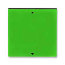 Kryt spínače žaluziového s krátkocestným ovladačem Levit zelená / kouřová černá