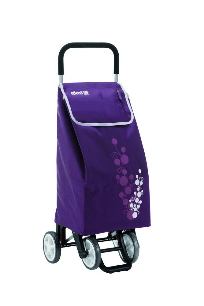 Nákupní vozík GIMI Twin fialový 56 l