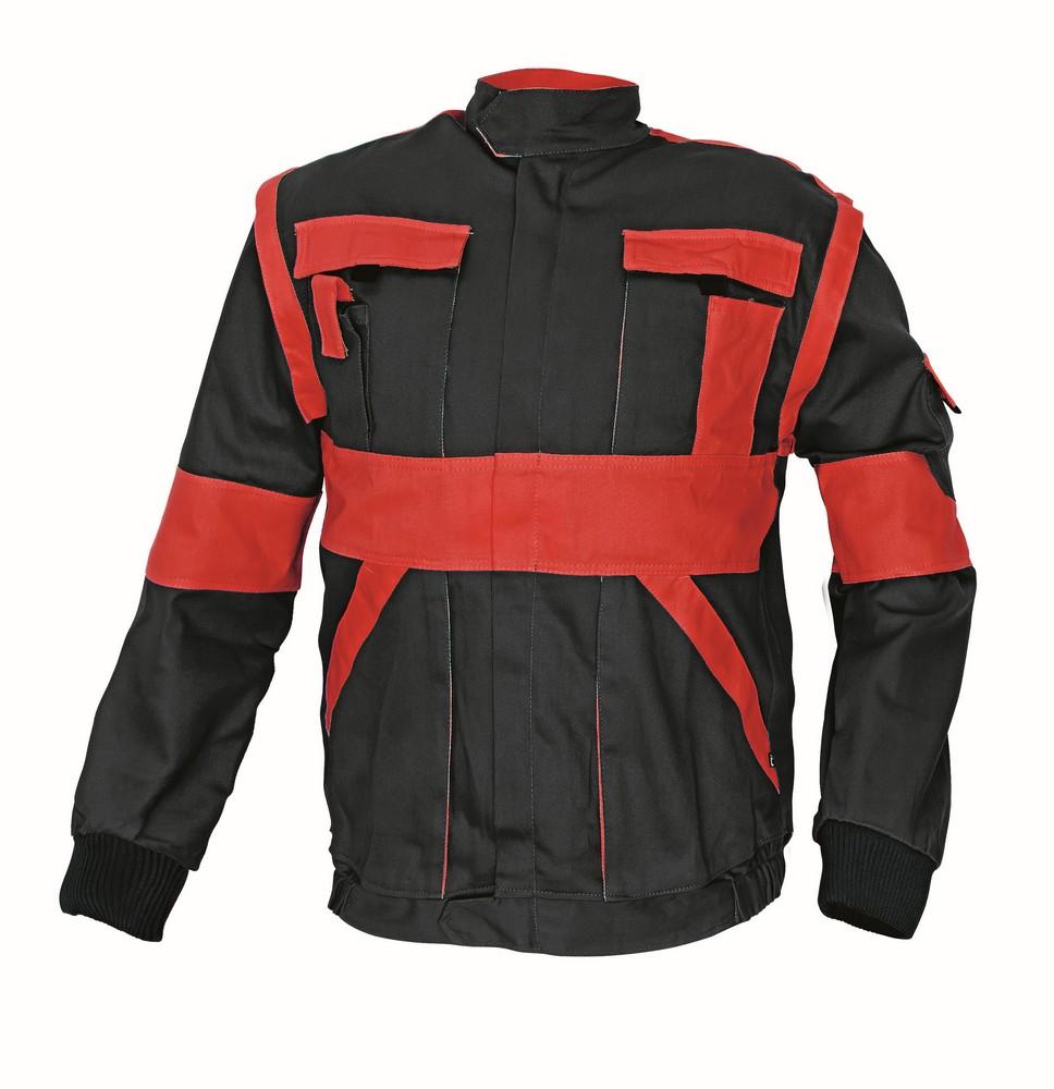Bunda MAX 2v1, černá/červená, vel. 50